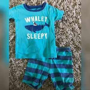 2T Summer Whale Pajamas